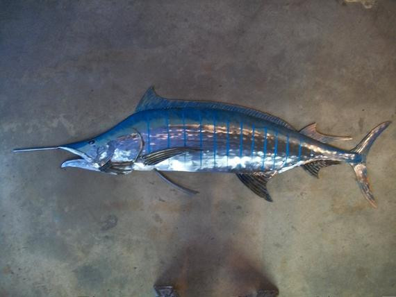 Best ideas about Metal Fish Wall Art . Save or Pin Blue Marlin Metal Fish Wall sculpture Beach Coastal Tropical Now.