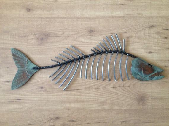 Best ideas about Metal Fish Wall Art . Save or Pin Walleye Bone metal fish wall sculpture Now.
