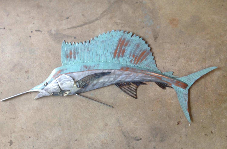 Best ideas about Metal Fish Wall Art . Save or Pin Sailfish Metal Wall Art Fish sculpture Beach Coastal Tropical Now.