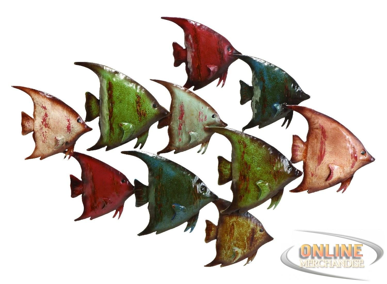 Best ideas about Metal Fish Wall Art . Save or Pin New Benzara Coastal Fish Metal Wall Nautical Decor Now.