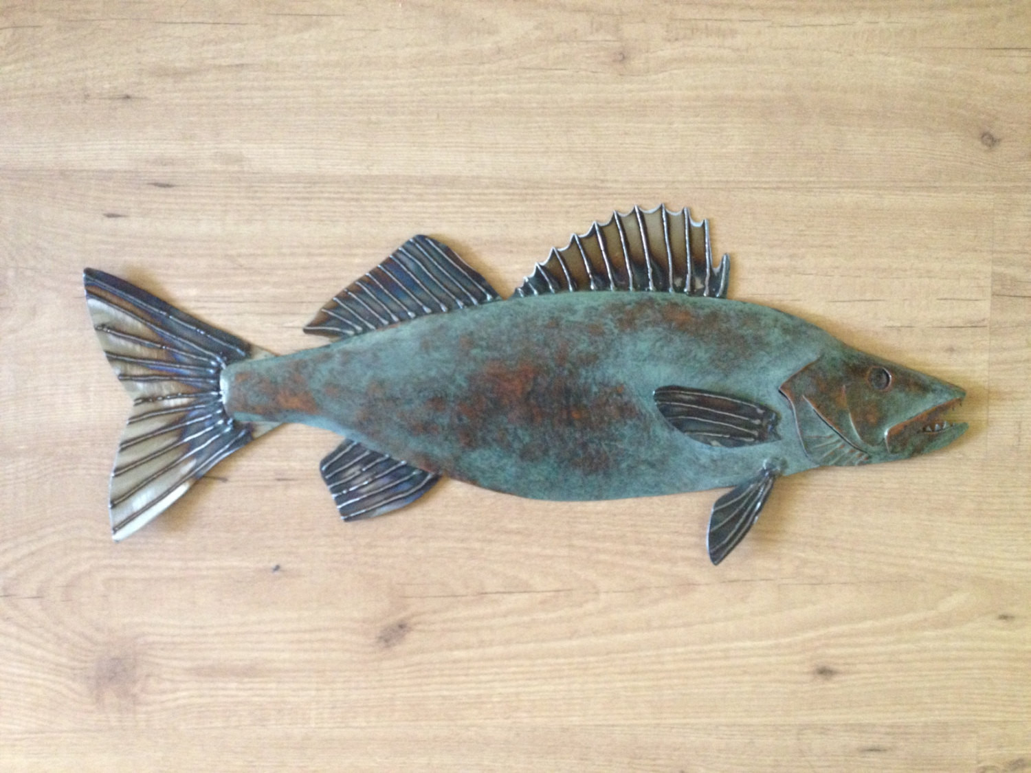 Best ideas about Metal Fish Wall Art . Save or Pin Walleye metal fish Art wall sculpture Lake Cabin Cottage Now.