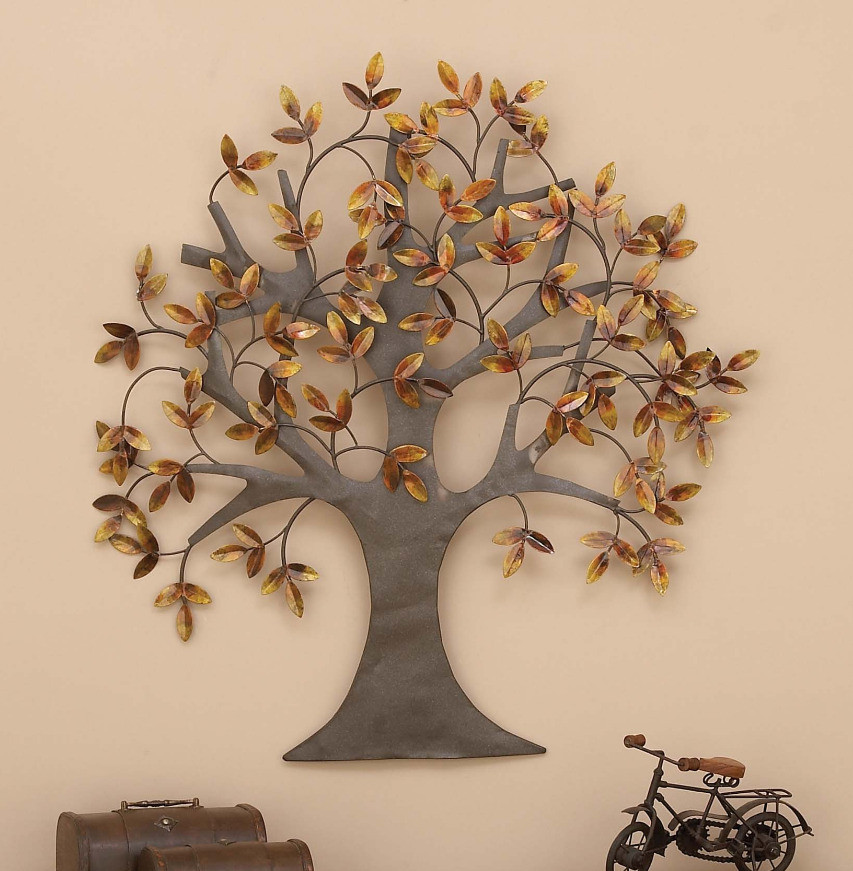 Best ideas about Metal Tree Wall Art . Save or Pin Metal Wall Art Tree of Life Leaves Dream Sculpture Now.
