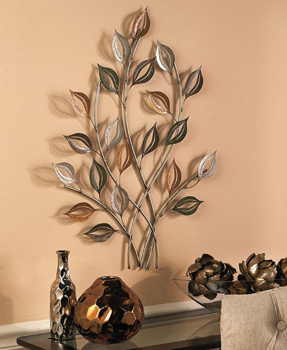 Best ideas about Metal Tree Wall Art . Save or Pin Metal Tree Wall Sculpture Leaf Wall Art Home Decor Gold Now.