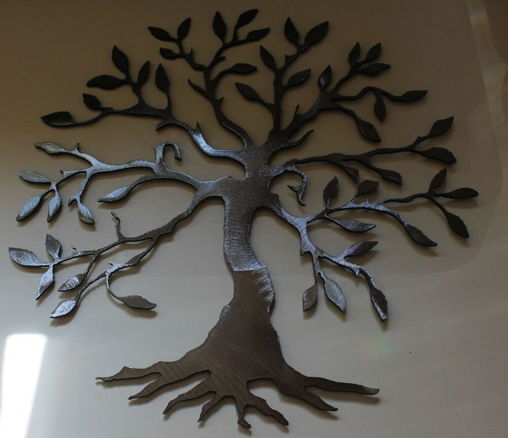 Best ideas about Metal Tree Wall Art . Save or Pin Olive Tree SILVER Tree of Life Metal Wall Art Decor Now.