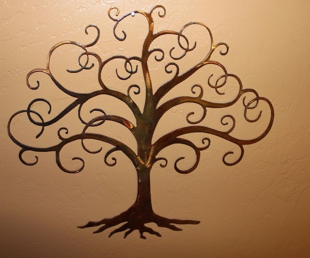 """Best ideas about Metal Tree Wall Art . Save or Pin Swirled Tree of Life 30"""" tall Metal Wall Art Decor by HGMW Now."""