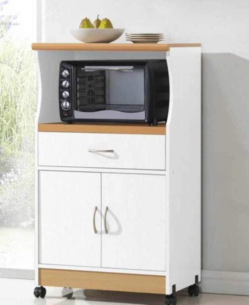 Best ideas about Microwave Pantry Cabinets . Save or Pin Rolling Microwave Cart Pantry Cabinet White Stand Island Now.