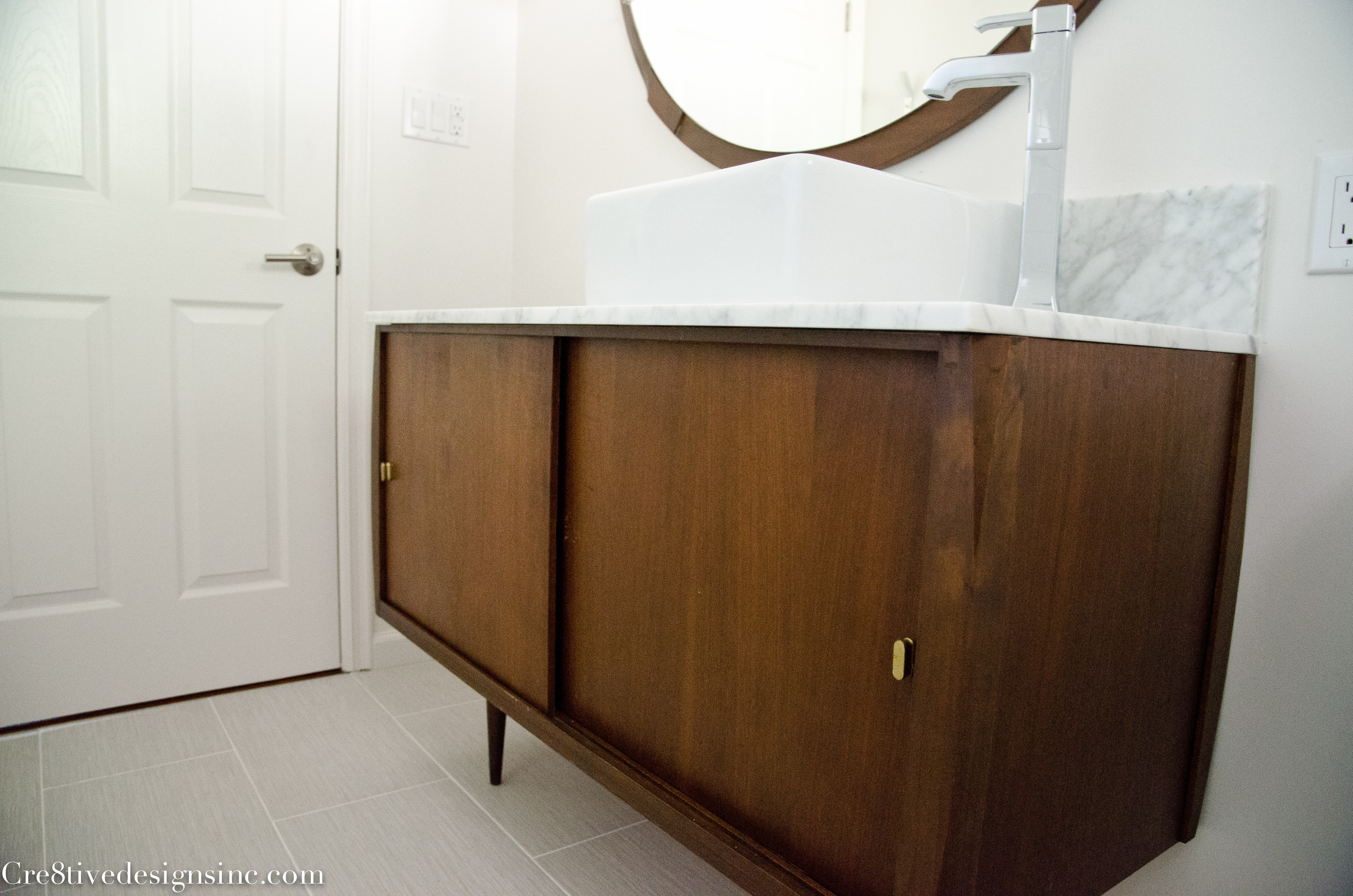 Best ideas about Mid Century Bathroom Vanity . Save or Pin Mid Century Modern Bathroom Cre8tive Designs Inc Now.