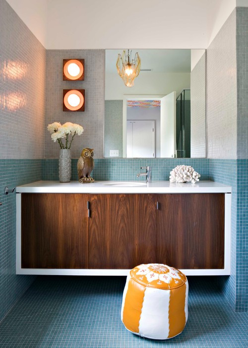 Best ideas about Mid Century Bathroom Vanity . Save or Pin 13 Creative Ideas For A Bathroom Makeover Now.