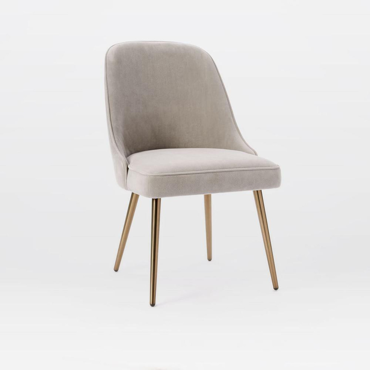 Best ideas about Mid Century Dining Chair . Save or Pin Mid Century Upholstered Dining Chair Velvet Now.