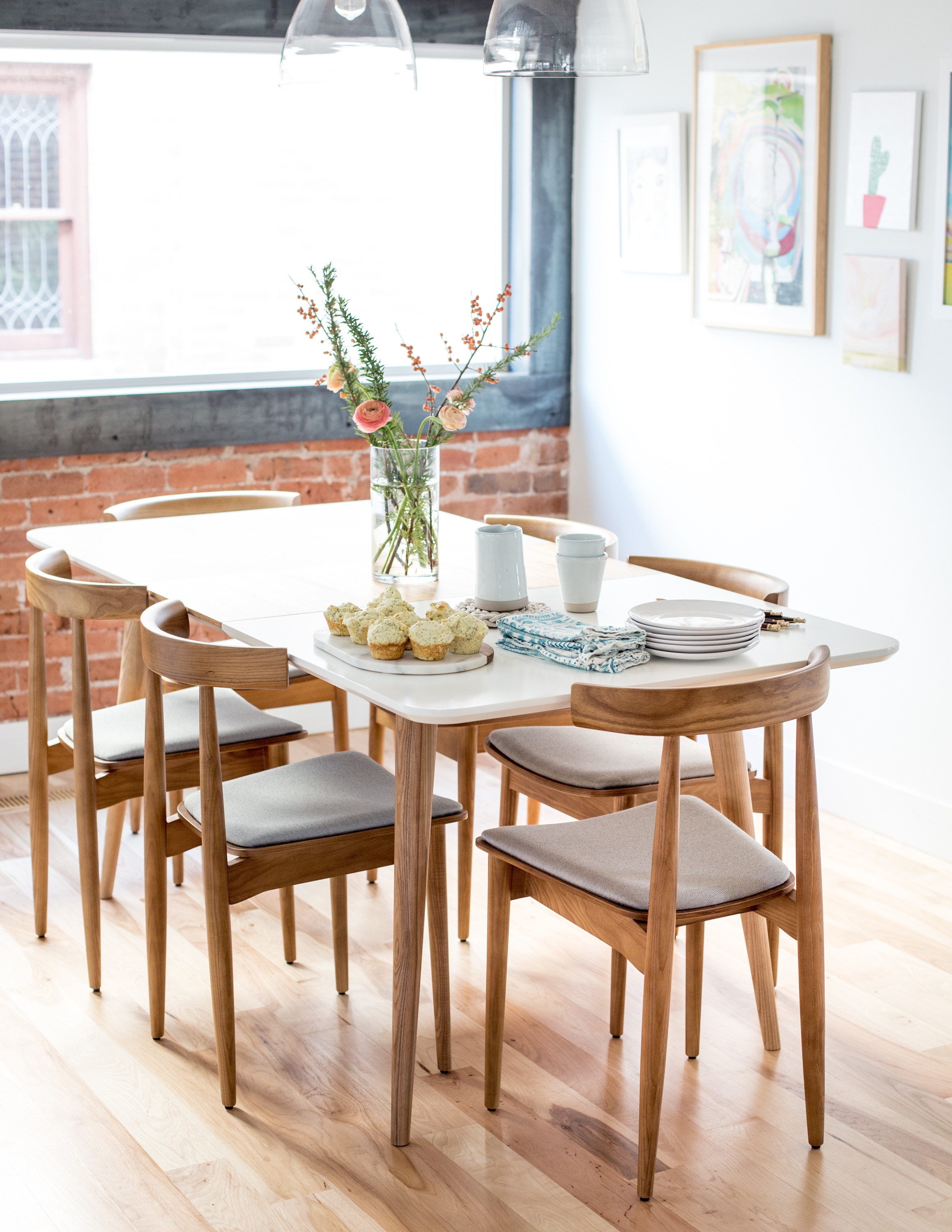 Best ideas about Mid Century Modern Dining Table . Save or Pin Mid Century Modern Dining Table and Chairs Flax & Twine Now.