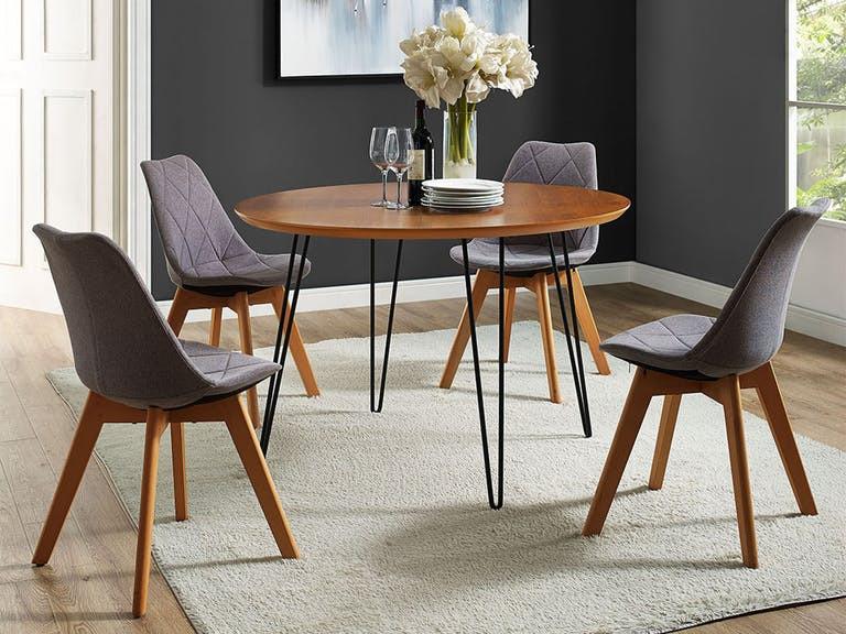 Best ideas about Mid Century Modern Round Dining Table . Save or Pin 46 Mid Century Modern Round Hairpin Leg Kitchen Dining Now.