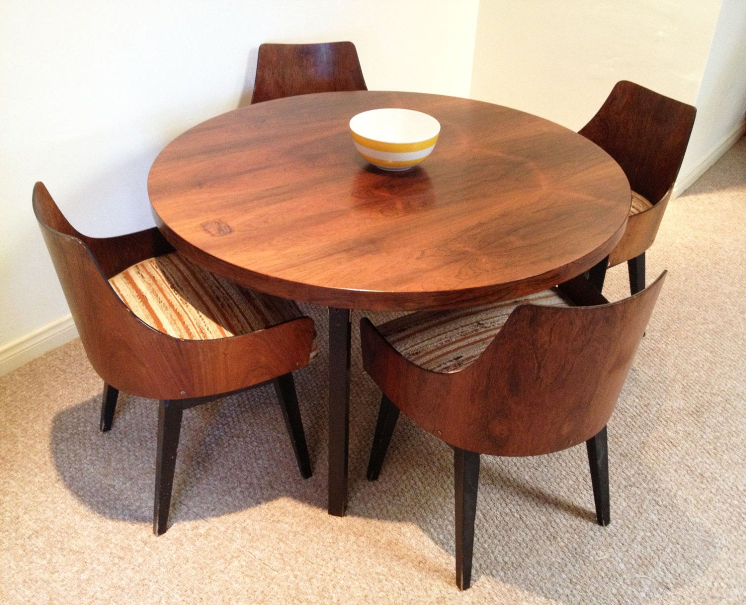 Best ideas about Mid Century Modern Round Dining Table . Save or Pin SOLD SOLDMid Century Modern Dining Set Chairs Mid century Now.