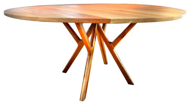 """Best ideas about Mid Century Modern Round Dining Table . Save or Pin Mid Century Modern Cherry Dining Table 60"""" Round Now."""
