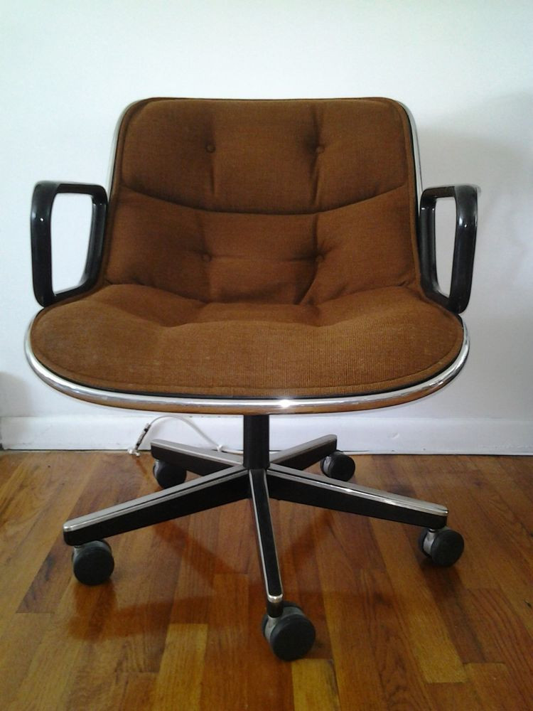 Best ideas about Mid Century Office Chair . Save or Pin Mid Century Modern Charles Pollock for Knoll dark brown Now.