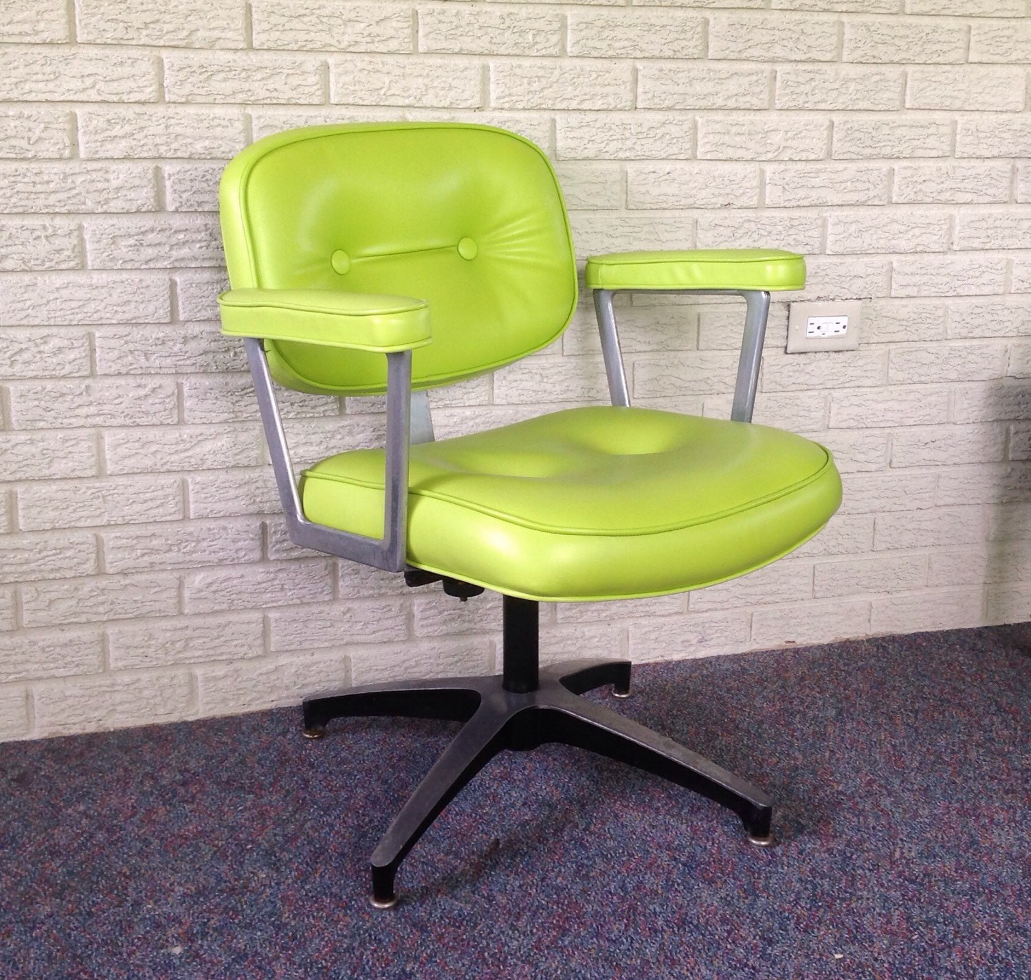 Best ideas about Mid Century Office Chair . Save or Pin Mid century office chair aluminum office chair vintage arm Now.