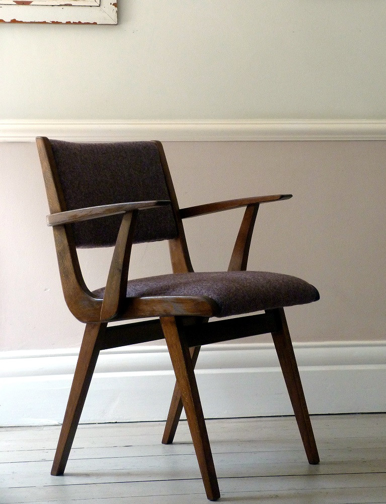 Best ideas about Mid Century Office Chair . Save or Pin Vintage Mid Century Tweed Desk Chair fice Chair Now.
