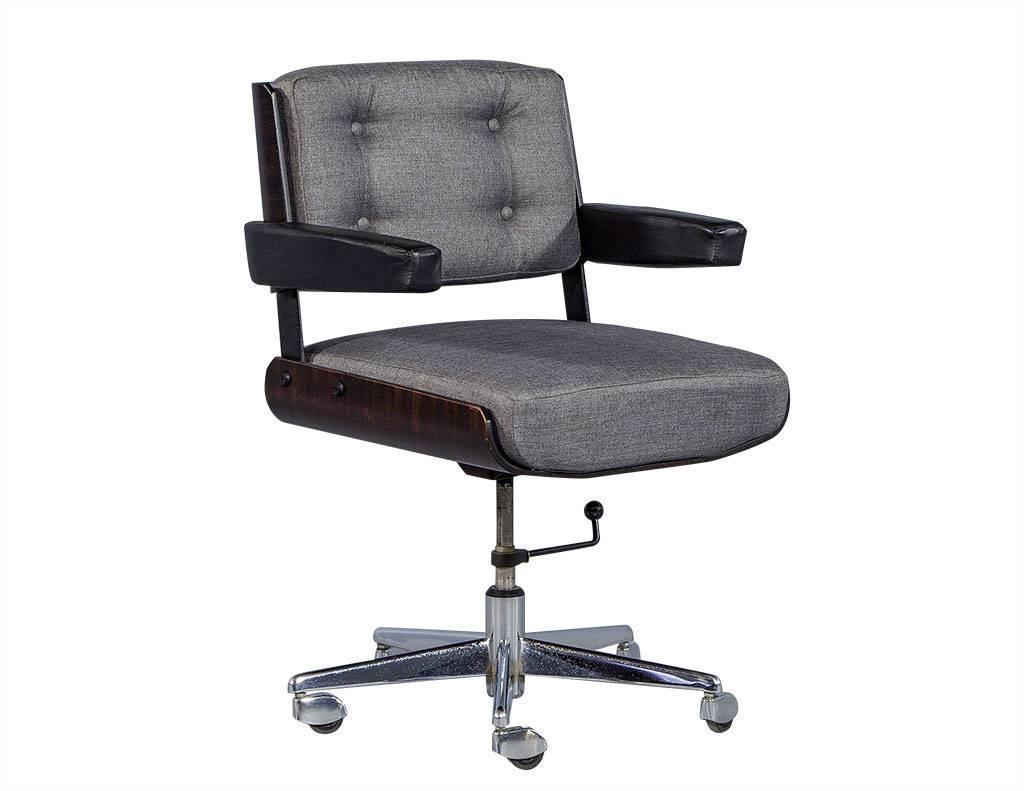 Best ideas about Mid Century Office Chair . Save or Pin Set of Three Mid Century fice Chair Set by Alain Richard Now.