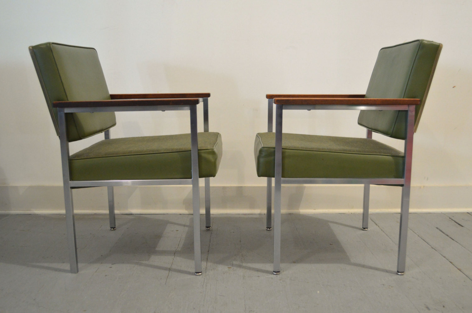 Best ideas about Mid Century Office Chair . Save or Pin Set of Two Vintage Mid Century fice Chairs in Green by All Now.