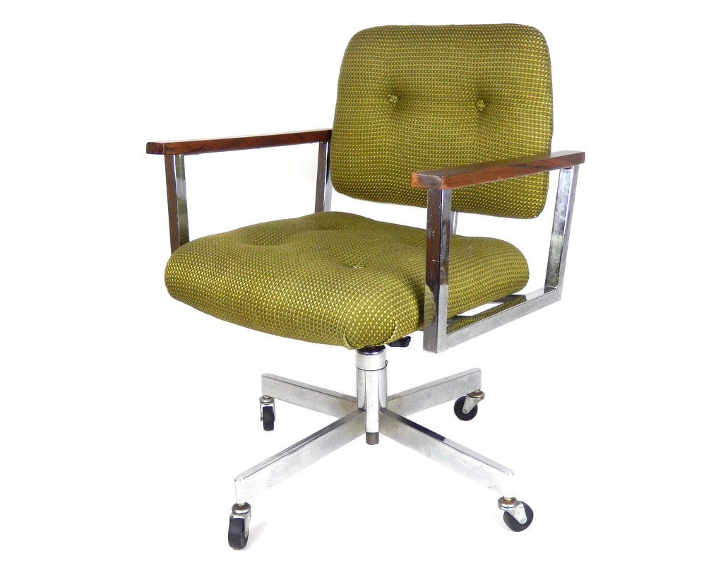 Best ideas about Mid Century Office Chair . Save or Pin Mid Century Modern fice Chair Chrome Desk Chair Swivel Now.