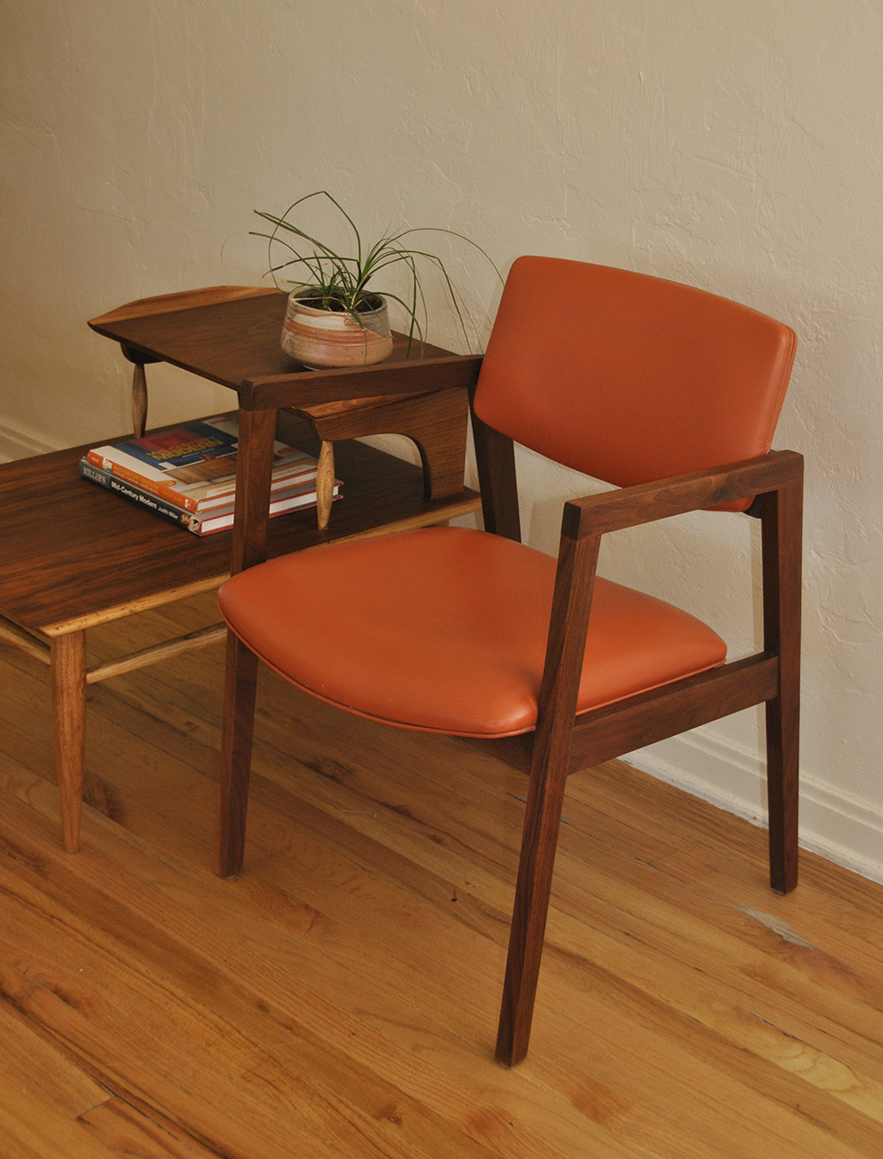 Best ideas about Mid Century Office Chair . Save or Pin Mid Century Orange and Walnut fice Desk Chair Trevi Now.