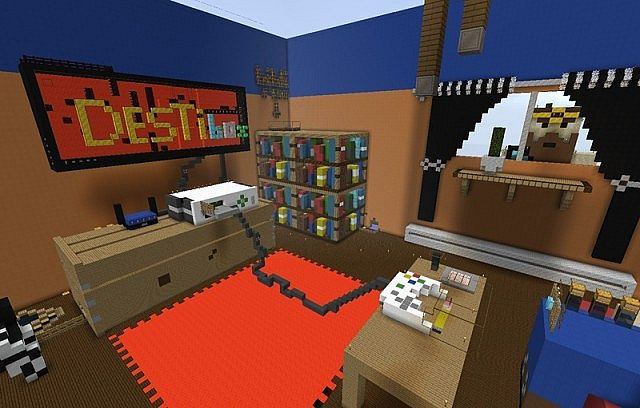 Best ideas about Minecraft Game Room . Save or Pin 3D game room Minecraft Project Now.
