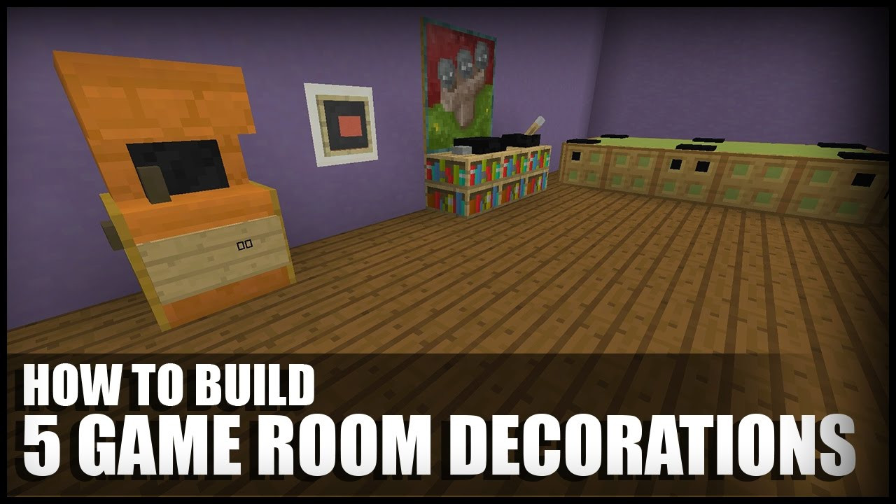 Best ideas about Minecraft Game Room . Save or Pin 5 Game Room Decorations In Minecraft Now.