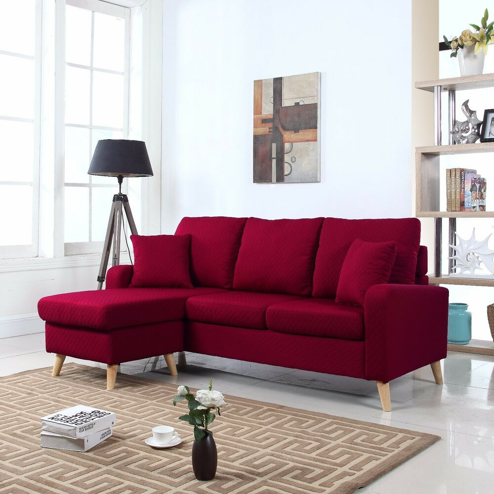 Best ideas about Mini Sectional Sofa . Save or Pin Modern Fabric Small Space Sectional Sofa w Reversible Now.