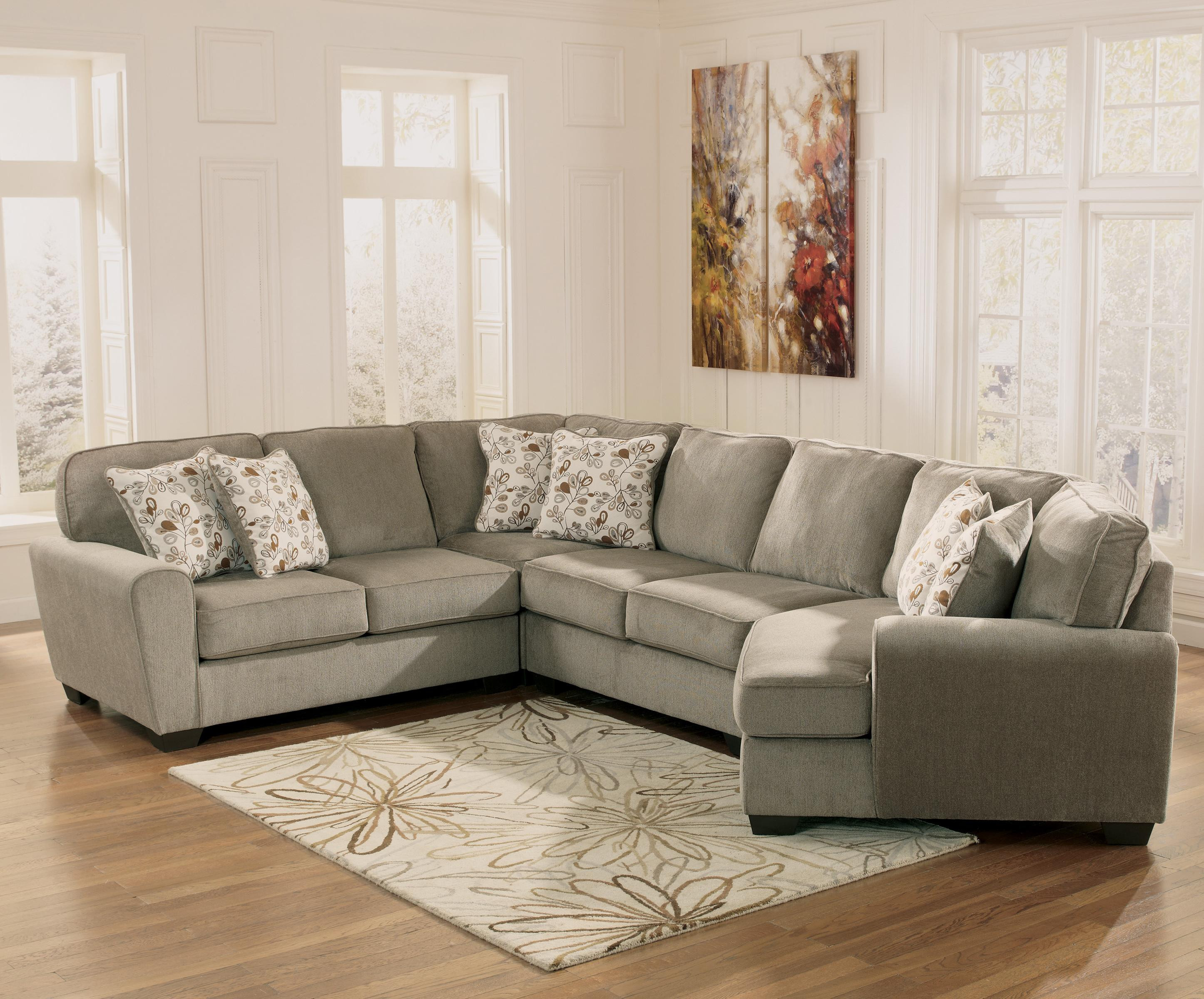 Best ideas about Mini Sectional Sofa . Save or Pin Patina 4 Piece Small Sectional with Right Cuddler Now.