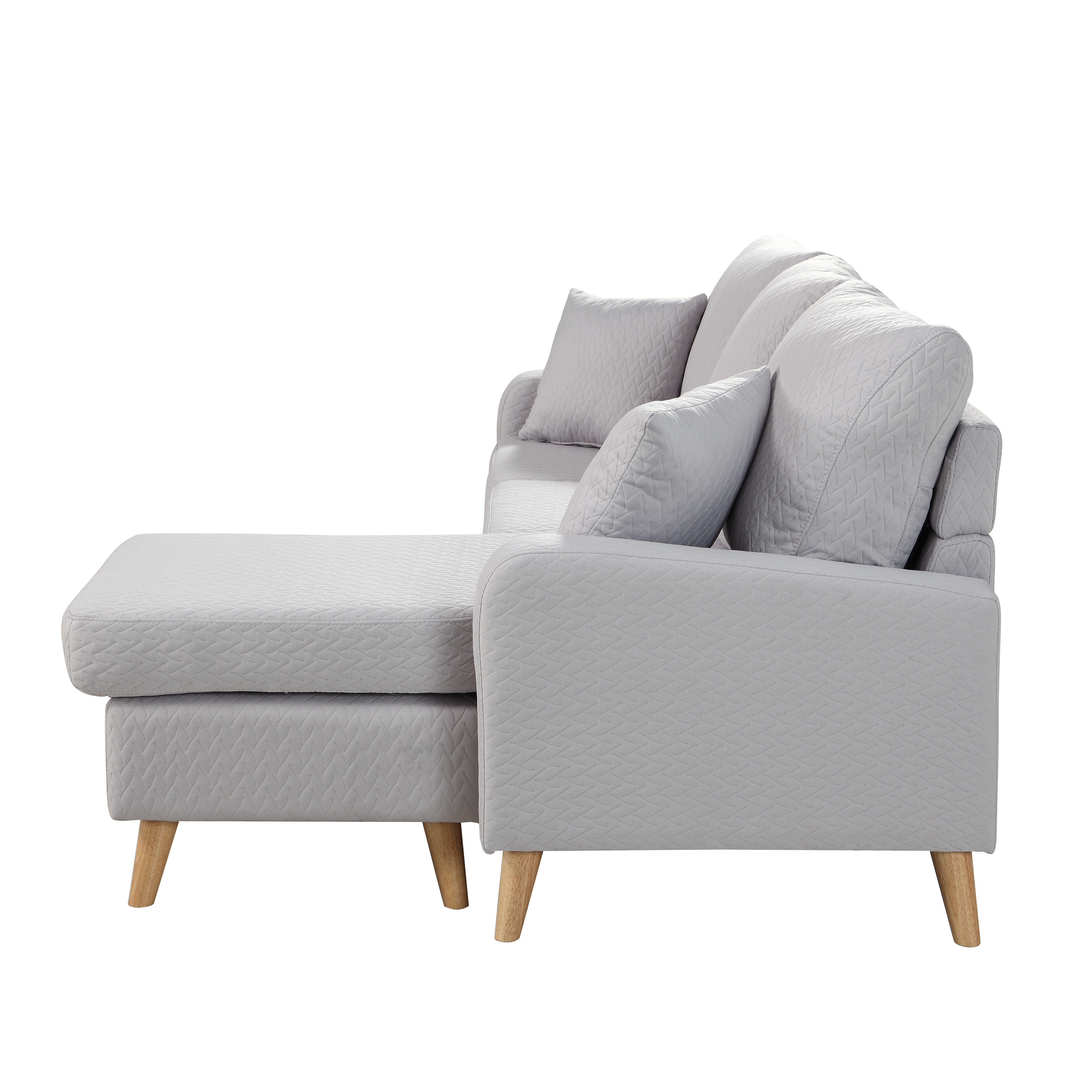 Best ideas about Mini Sectional Sofa . Save or Pin Modern Fabric Small Space Sectional Sofa with Reversible Now.