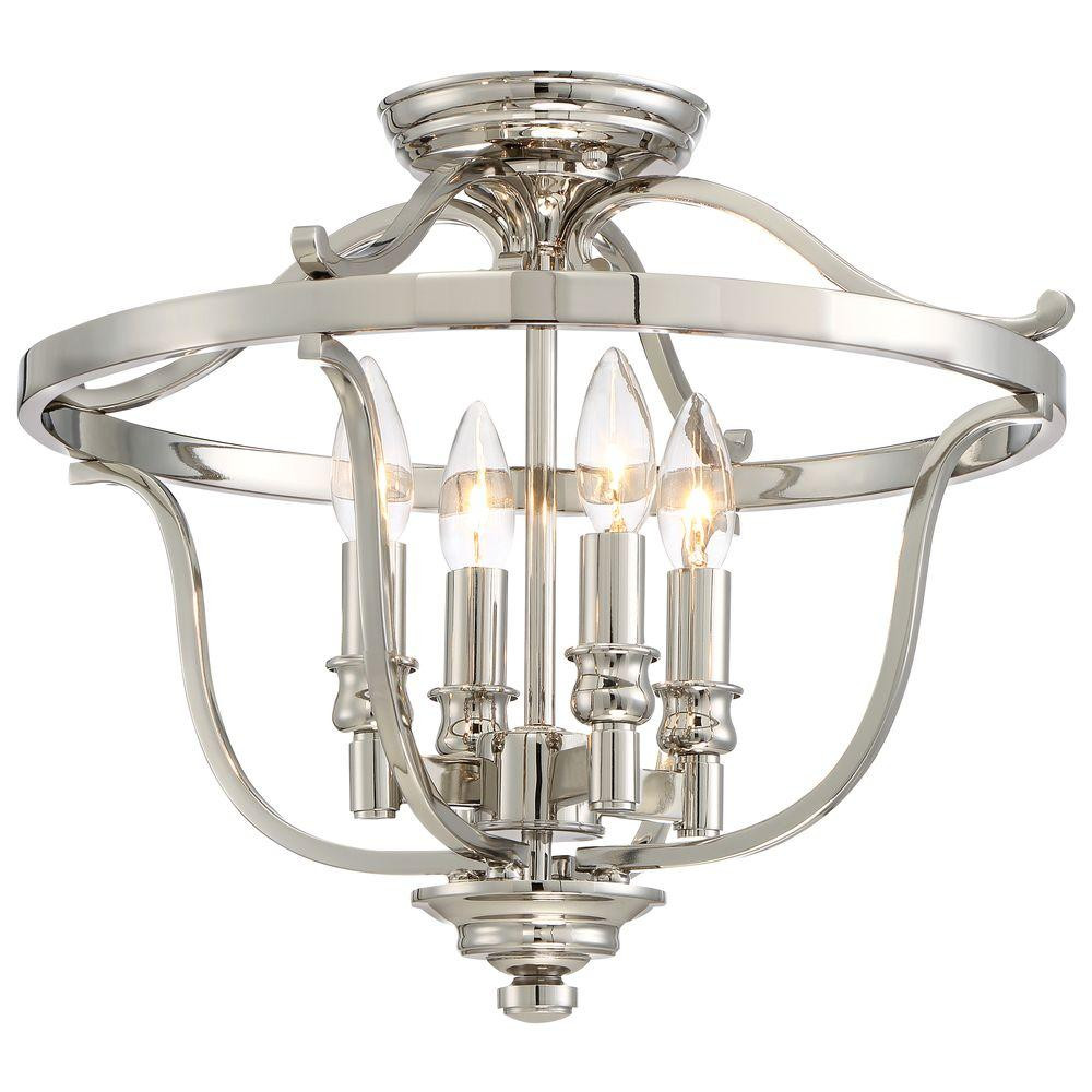 Best ideas about Minka Lavery Lighting . Save or Pin Minka Lavery Audreys Point 4 Light Polished Nickel Semi Now.