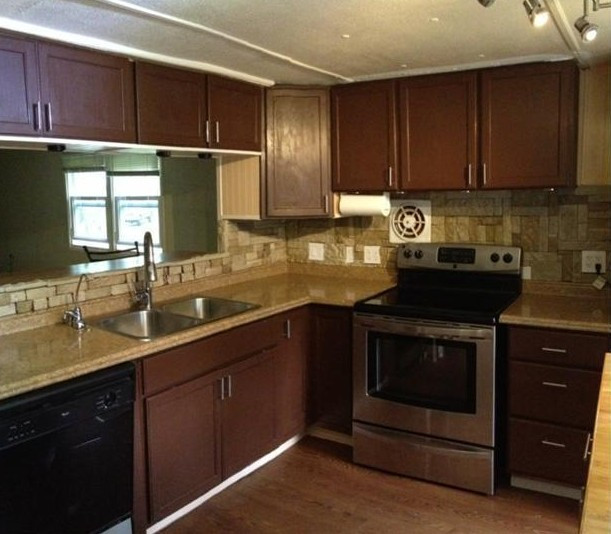 Best ideas about Mobile Home Kitchen Ideas . Save or Pin 1973 Mobile Home Remodel Done with $2000 Bud Now.