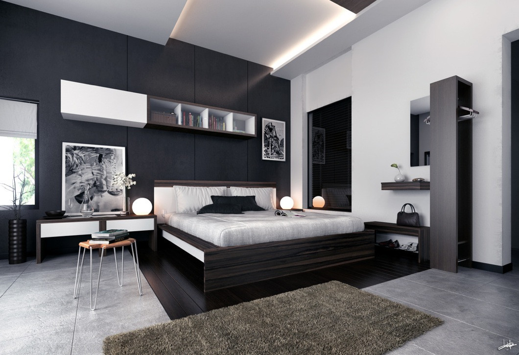 Best ideas about Modern Bedroom Furniture . Save or Pin Bedroom Feature Walls Now.