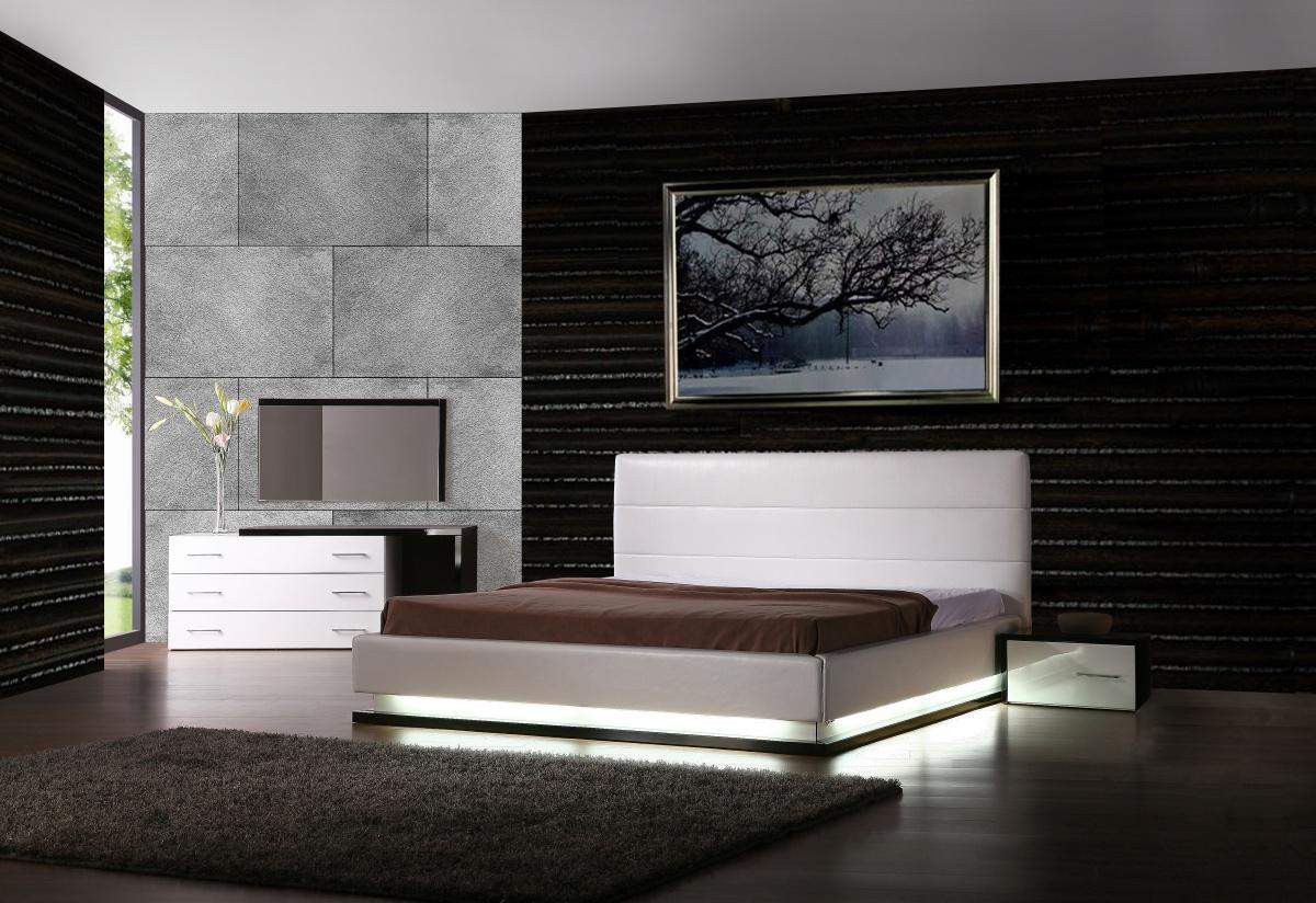 Best ideas about Modern Bedroom Furniture . Save or Pin Exotic Leather Modern Contemporary Bedroom Sets feat Light Now.