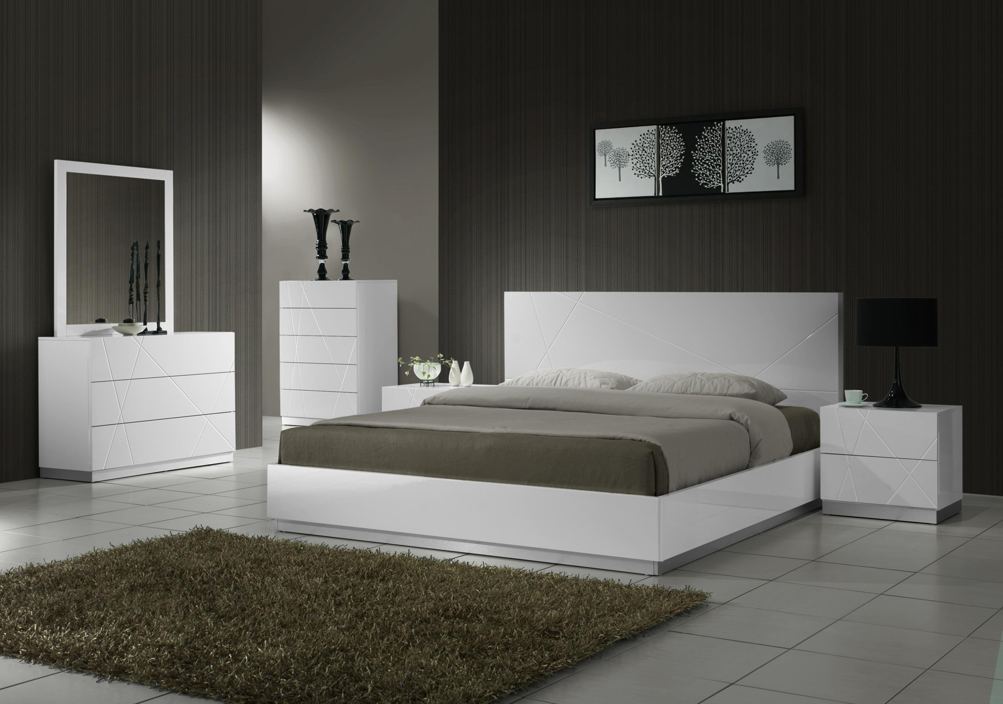 Best ideas about Modern Bedroom Furniture . Save or Pin NAPLES Modern Bedroom Set Now.