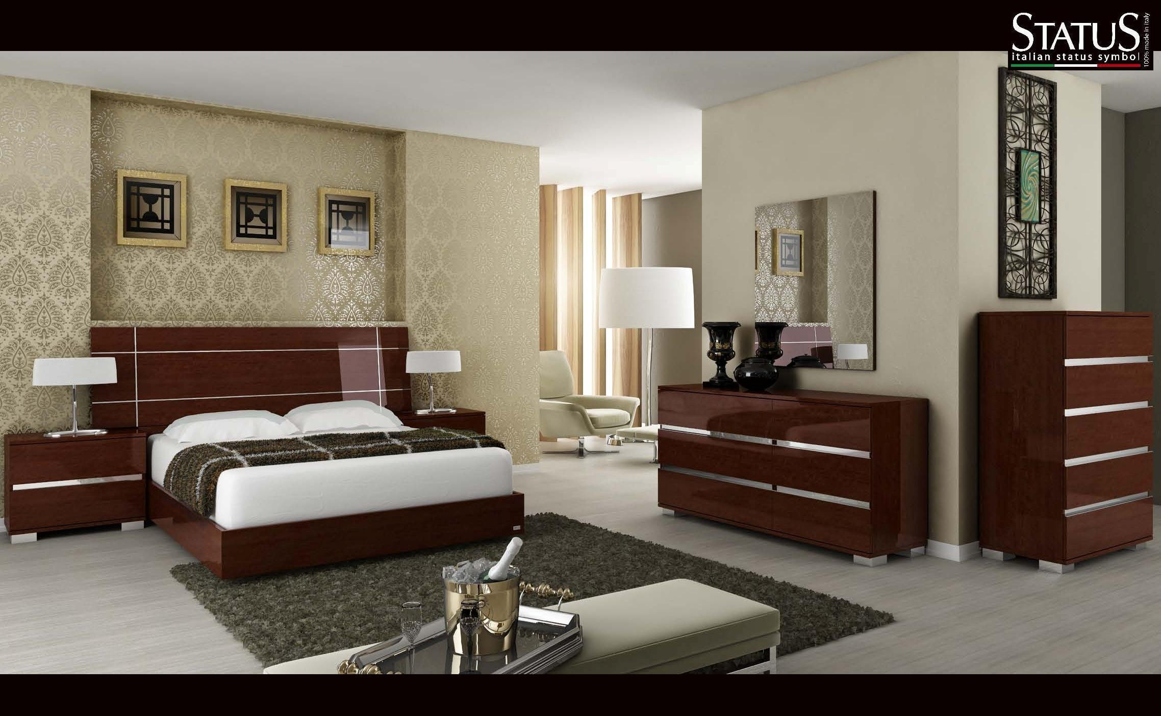 Best ideas about Modern Bedroom Furniture . Save or Pin DREAM KING SIZE MODERN DESIGN BEDROOM SET WALNUT 5 pc Now.
