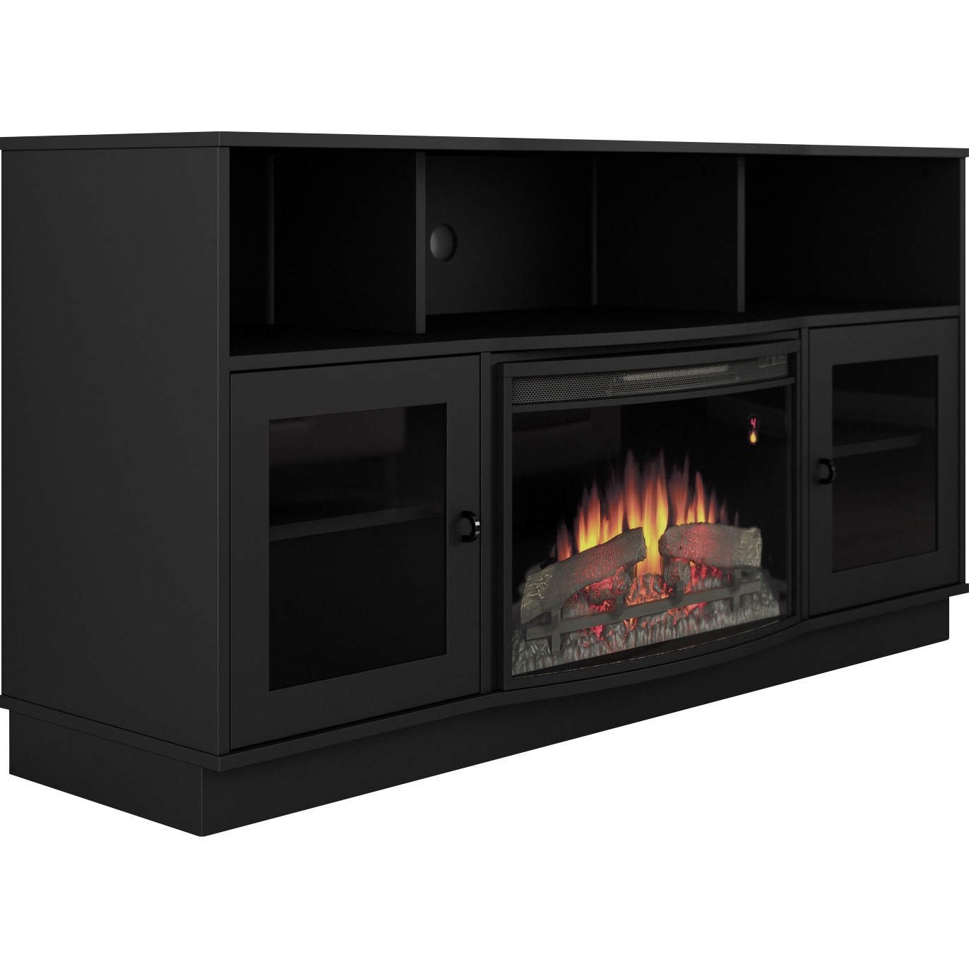 Best ideas about Modern Electric Fireplace Tv Stand . Save or Pin Furnitech Contemporary TV Stand with Electric Fireplace Now.