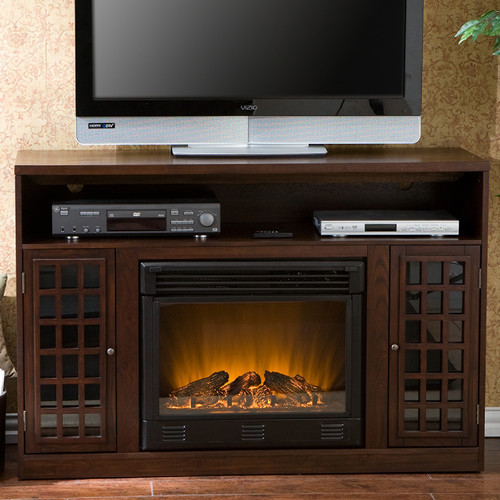 """Best ideas about Modern Electric Fireplace Tv Stand . Save or Pin Bismark 48"""" TV Stand with Electric Fireplace Modern Now."""