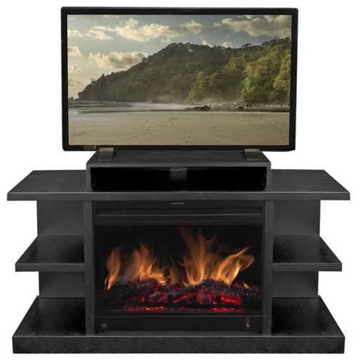 """Best ideas about Modern Electric Fireplace Tv Stand . Save or Pin Shelby 46"""" TV Stand with Electric Fireplace Modern Gas Now."""
