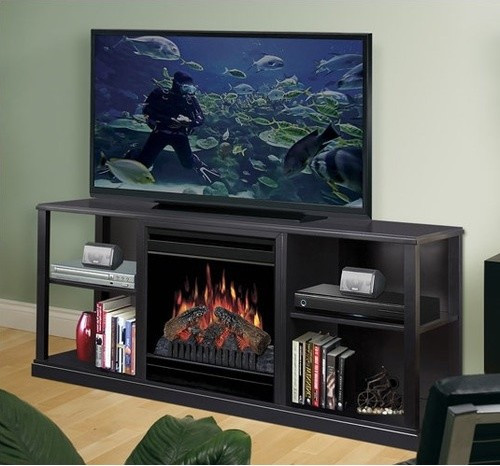 """Best ideas about Modern Electric Fireplace Tv Stand . Save or Pin 61"""" Cornet TV Stand with Electric Fireplace Modern Now."""