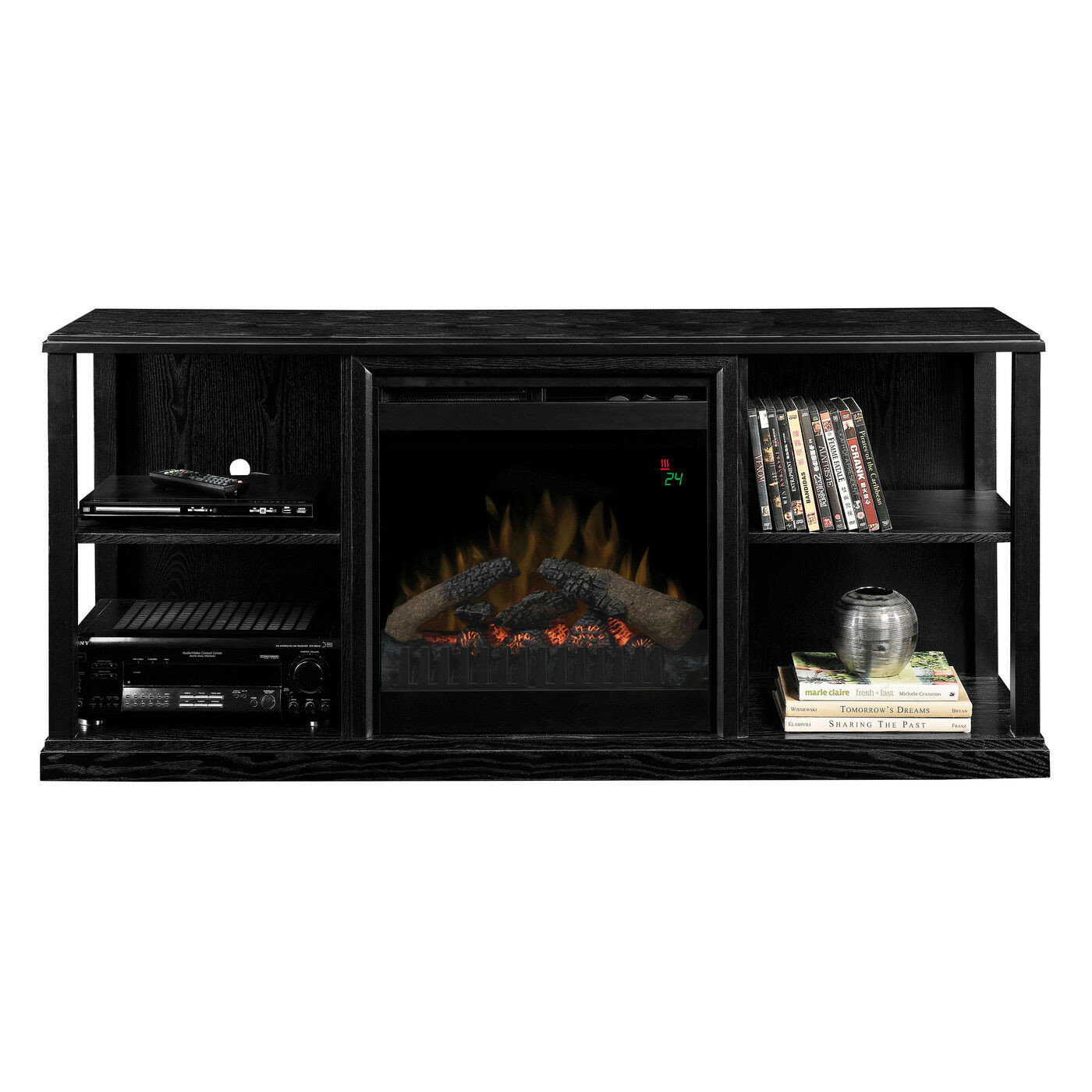 Best ideas about Modern Electric Fireplace Tv Stand . Save or Pin TV Entertainment Center Fireplace Electric Modern Stand Now.