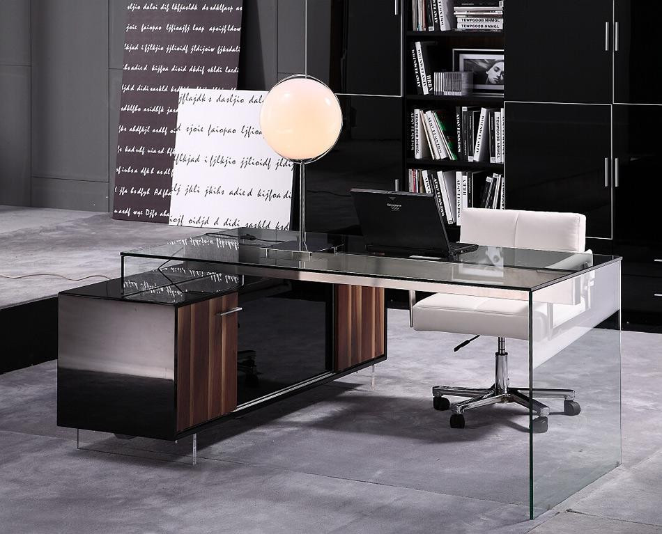Best ideas about Modern Office Furniture . Save or Pin Contemporary fice Desk with Thick Acrylic Cabinet Now.