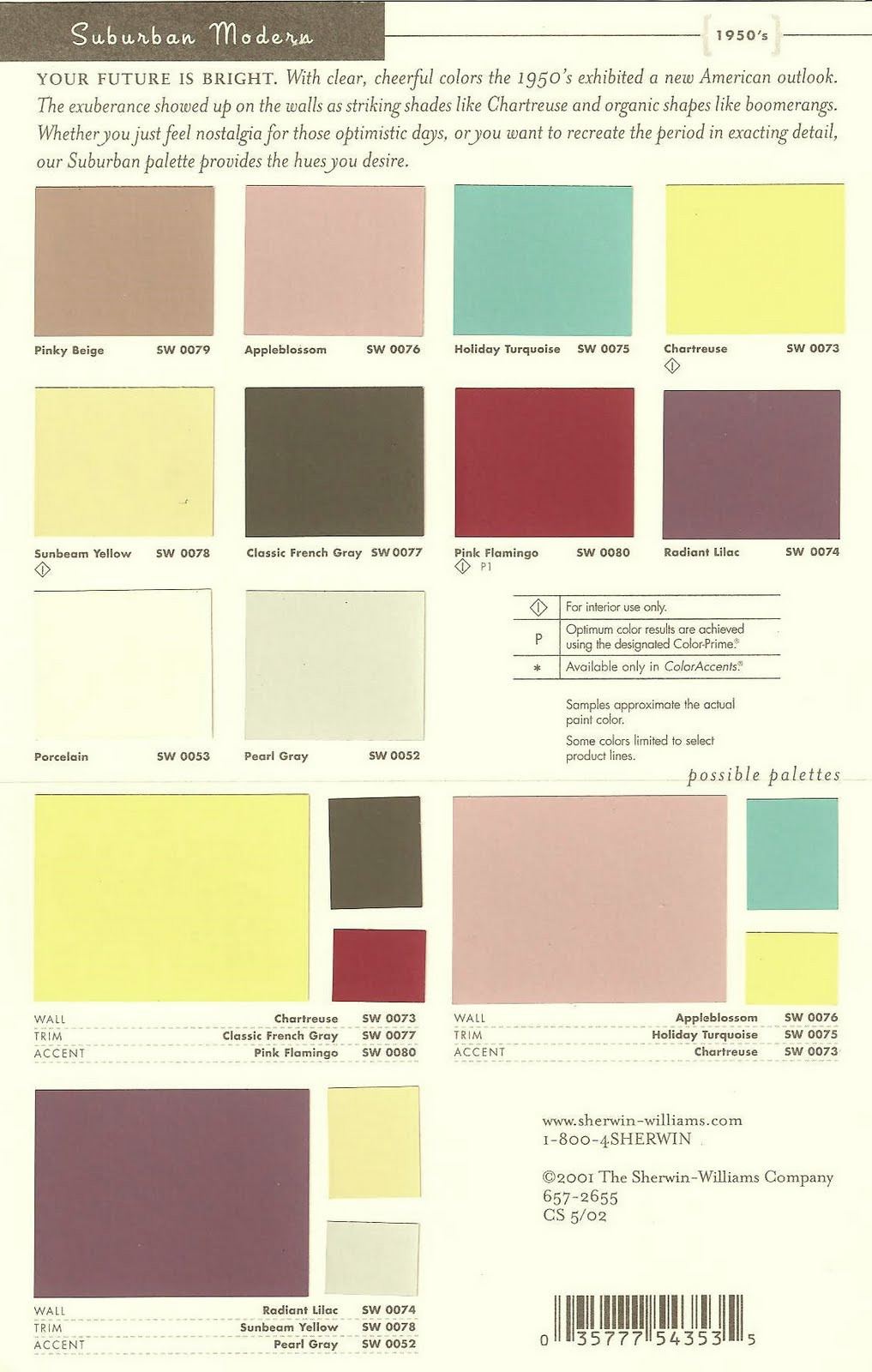Best ideas about Modern Paint Colors . Save or Pin Paradise Palms Some mid century modern paint colors Now.