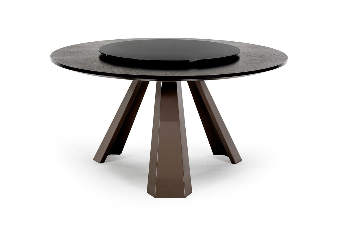 Best ideas about Modern Round Dining Table . Save or Pin T8958 Contemporary Round Wenge Dining Table w Glass Lazy Now.