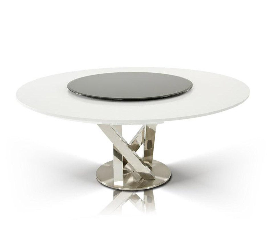 Best ideas about Modern Round Dining Table . Save or Pin DreamFurniture Modern Round White Dining Table with Now.