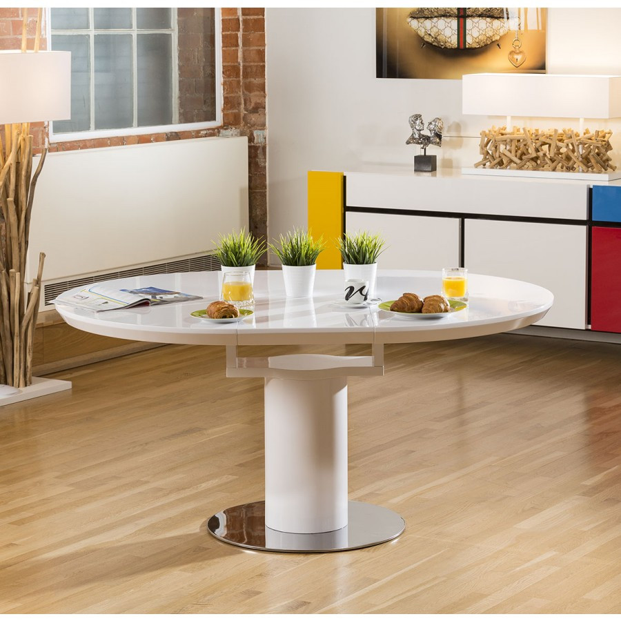 Best ideas about Modern Round Dining Table . Save or Pin Modern Dining Table White Gloss Round Oval Extending Now.