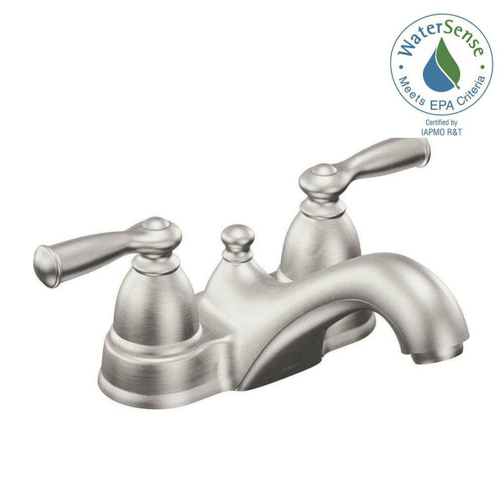 Best ideas about Moen Bathroom Faucets . Save or Pin MOEN Banbury 4 in Centerset 2 Handle Low Arc Bathroom Now.