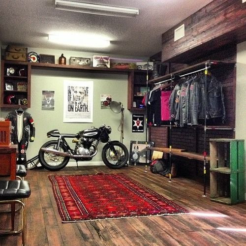Best ideas about Motorcycle Garage Ideas . Save or Pin 1000 ideas about Motorcycle Garage on Pinterest Now.