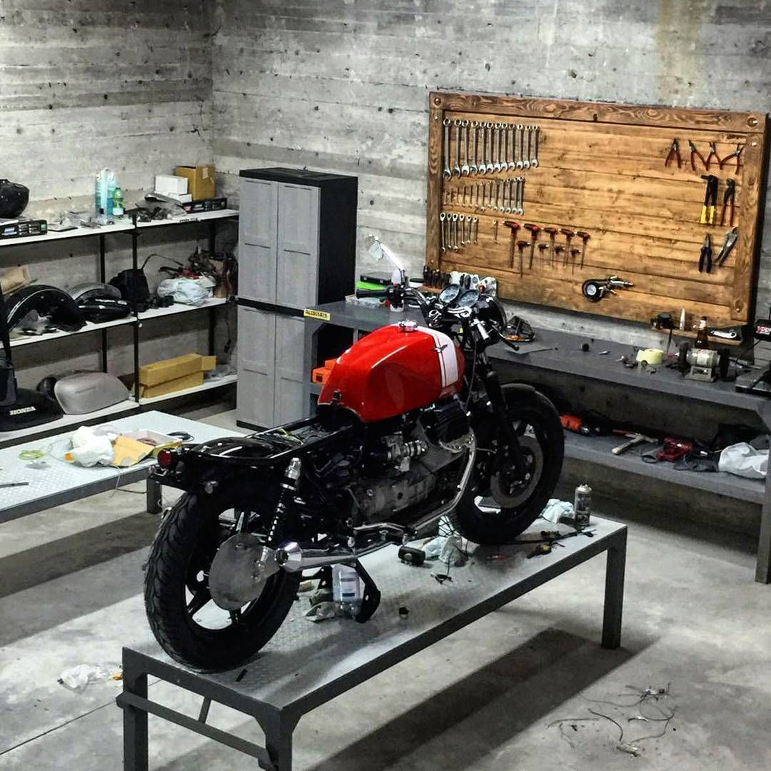 Best ideas about Motorcycle Garage Ideas . Save or Pin Moto Guzzi in the garage workshop discover motomood Now.
