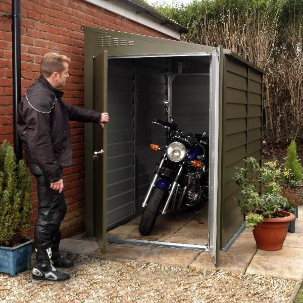 Best ideas about Motorcycle Garage Ideas . Save or Pin Best 20 Motorcycle storage shed ideas on Pinterest Now.