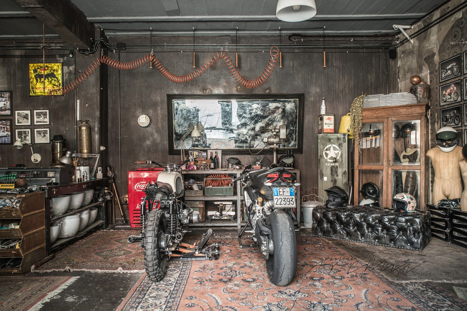 Best ideas about Motorcycle Garage Ideas . Save or Pin MOTORBIKES ON THE LIVING ROOM OR LIKE LIVING ROOM ON THE Now.